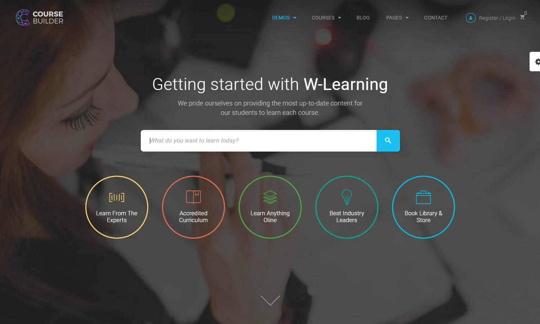 Course Builder LMS captura de tela