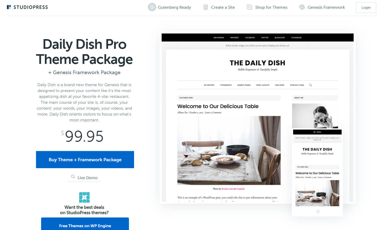 Daily Dish Pro captura de tela