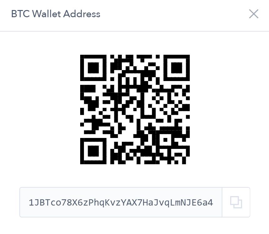 Endereço da carteira Bitcoin