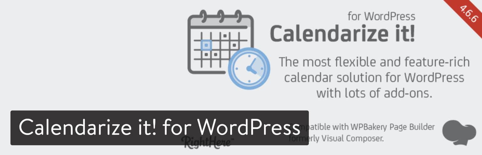 Calendarize! para plugin WordPress