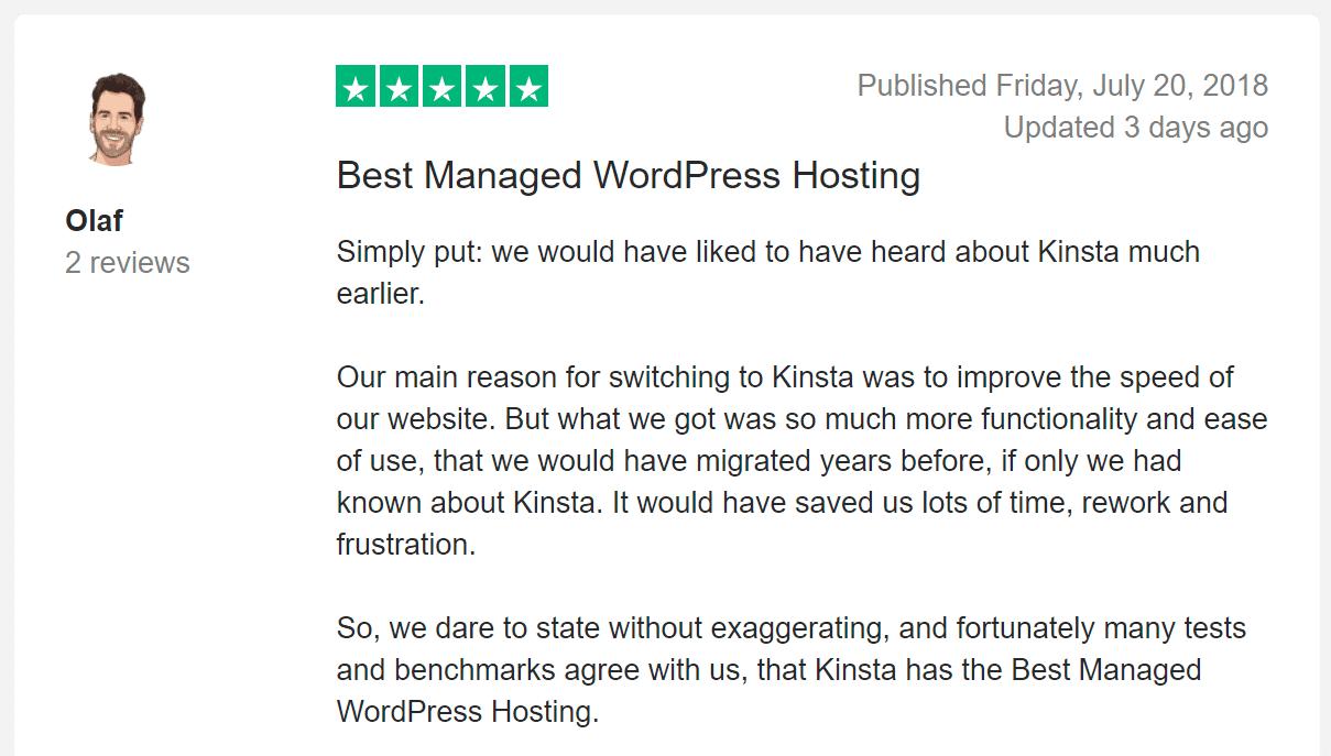 Trustpilot review