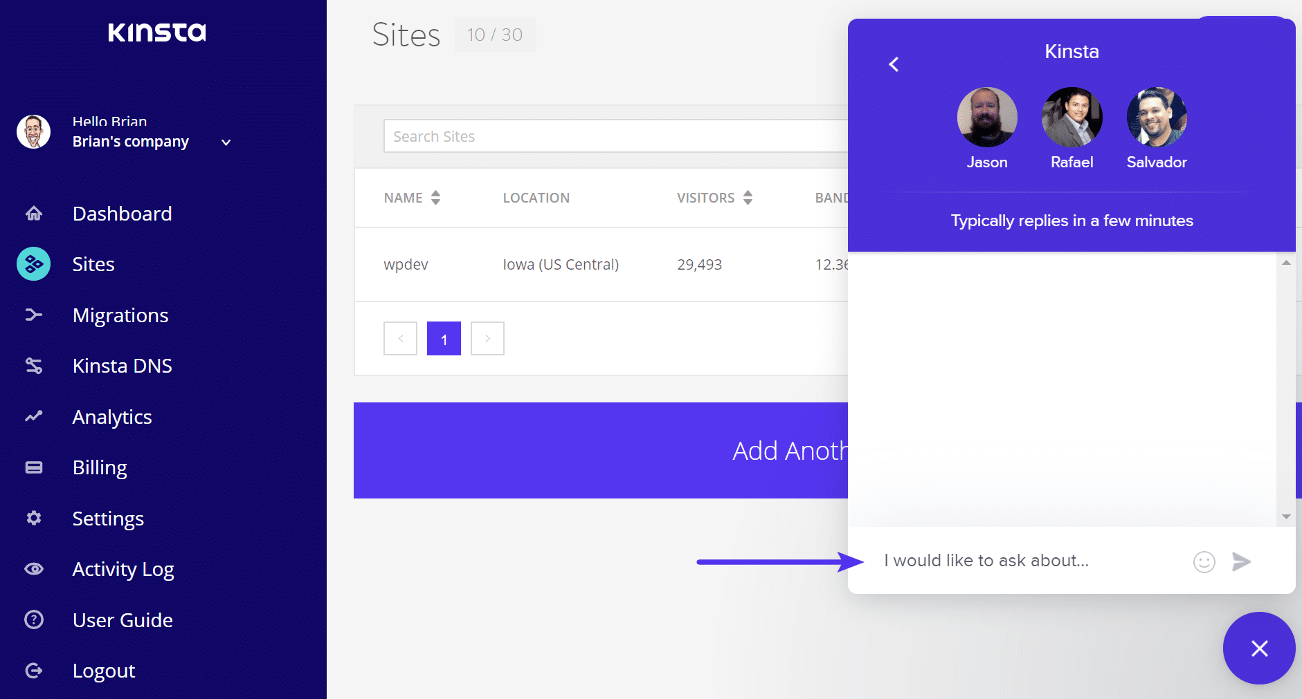 Enviar ticket de suporte para WordPress