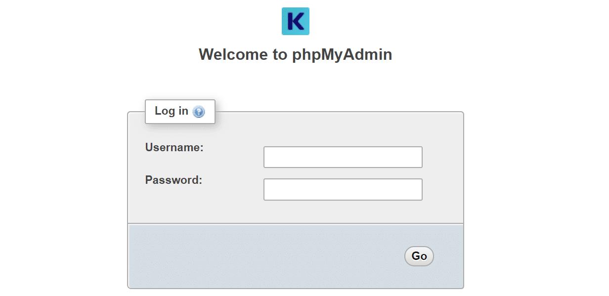 phpMyAdmin no Kinsta