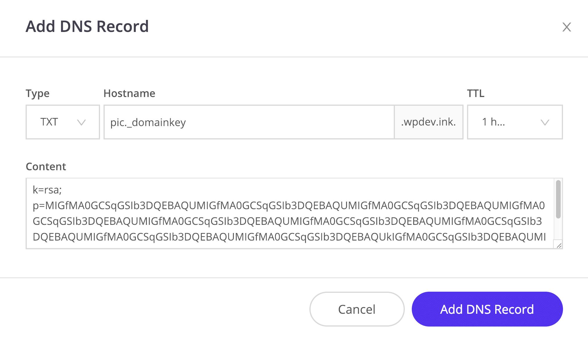 Registro DKIM