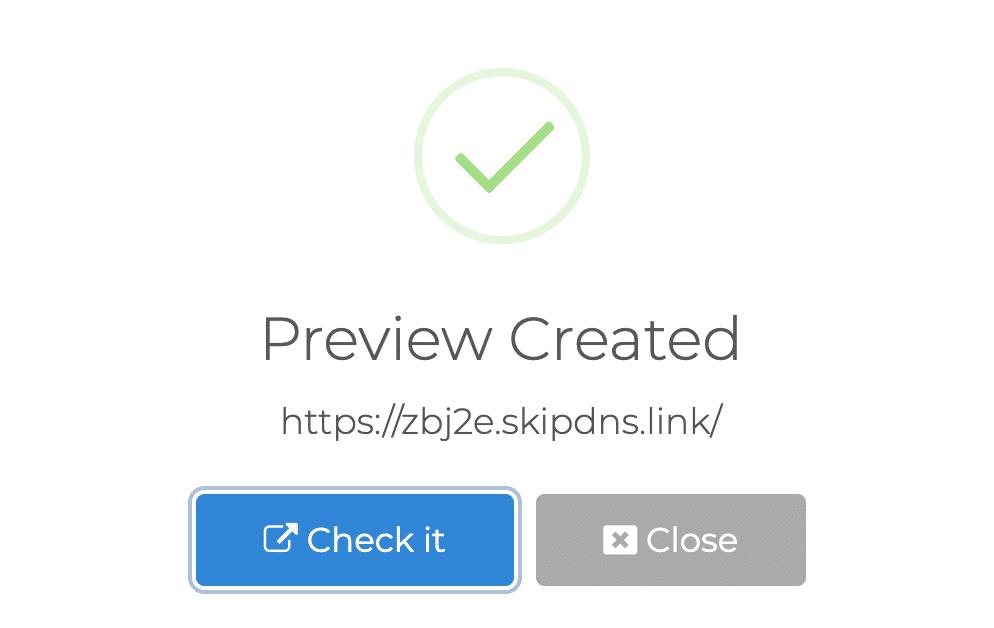 Visualização de SkipDNS criada