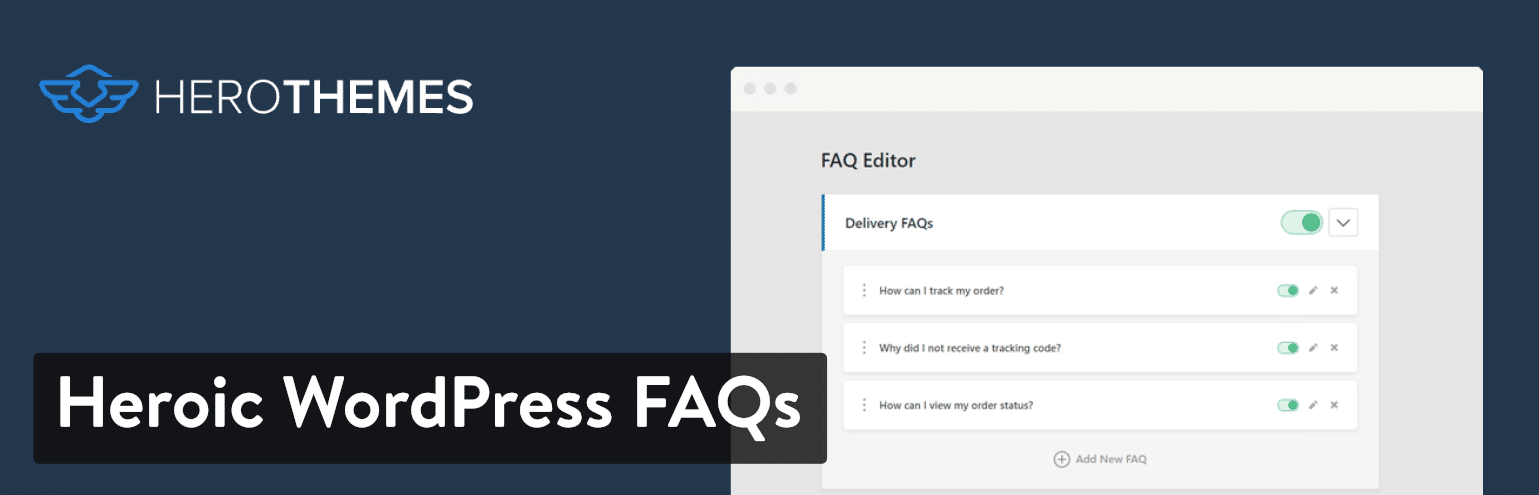 Plugin Heroic WordPress FAQs