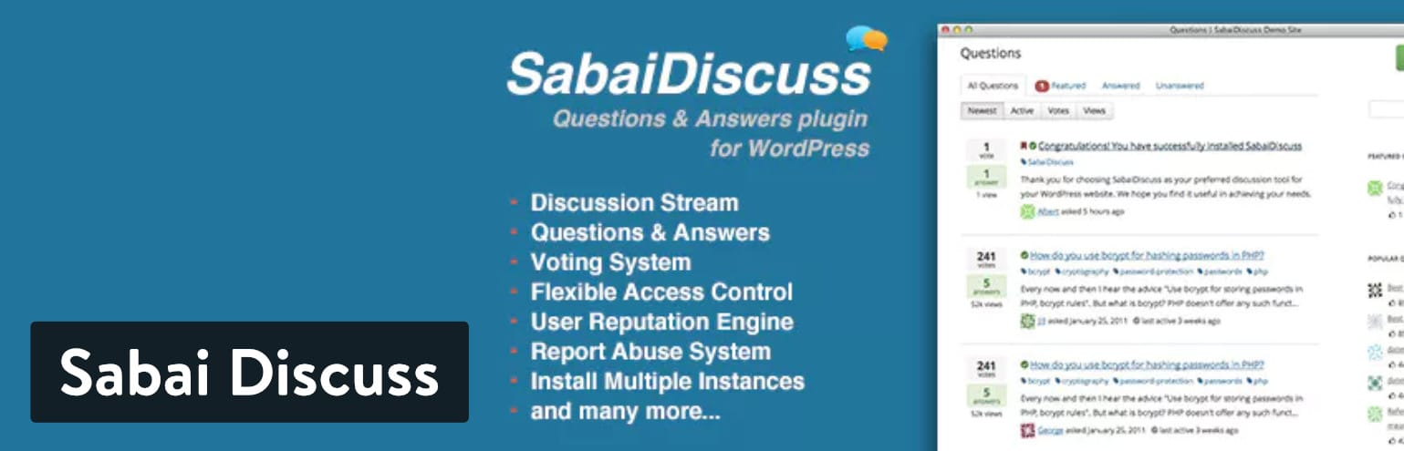 Plugin WordPress Sabai Discuss
