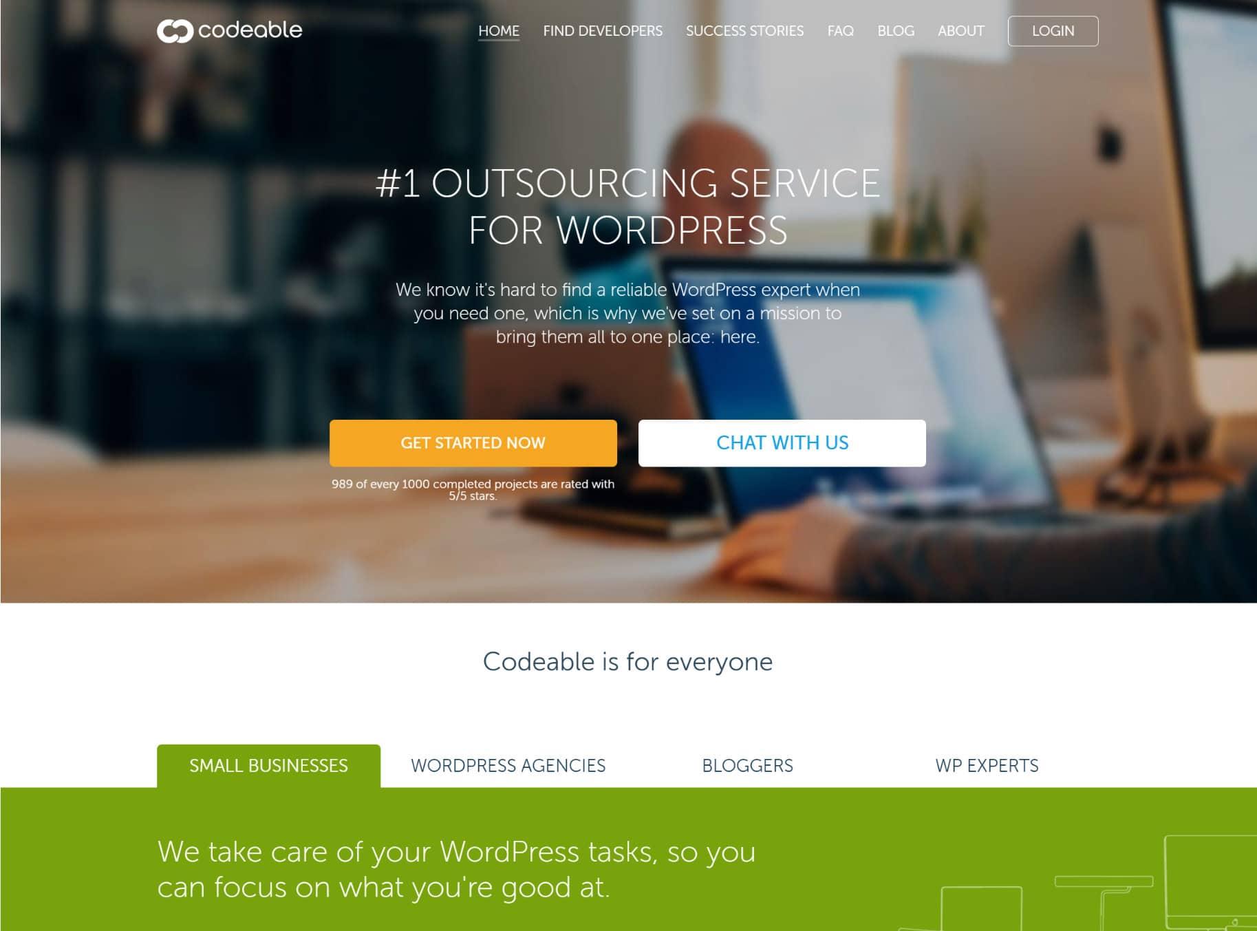 Vagas de desenvolvedor WordPress na Codeable
