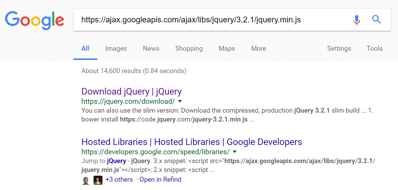 Script jQuery externo
