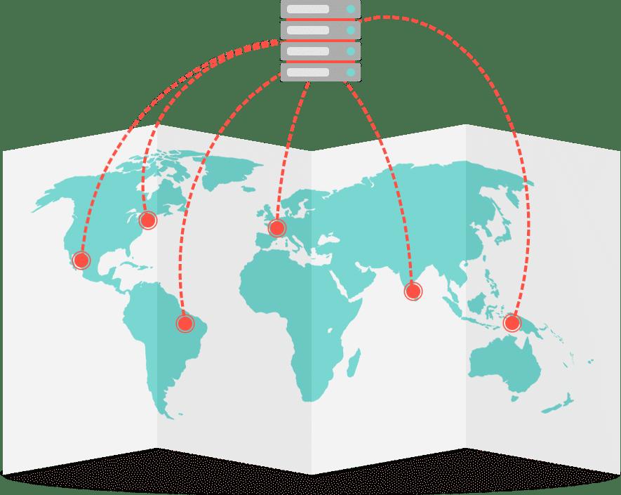 Desempenho geográfico do website