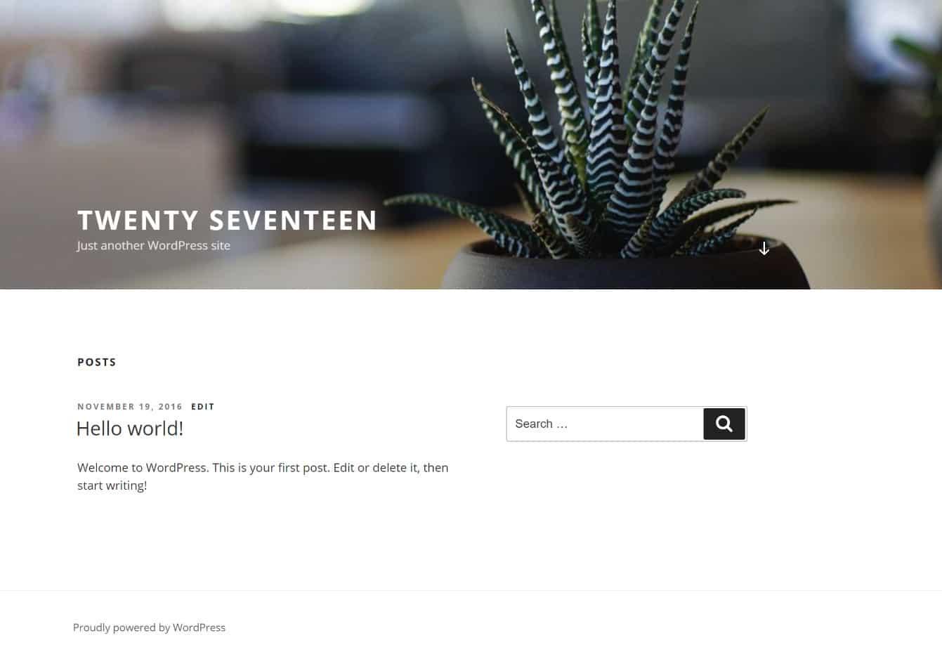 Tema WordPress Twenty Seventeen