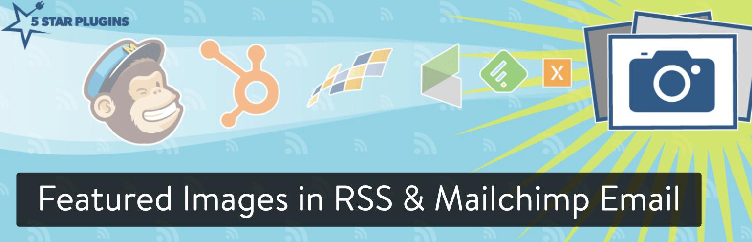 Imagens em destaque no RSS & Mailchimp Email WordPress plugin