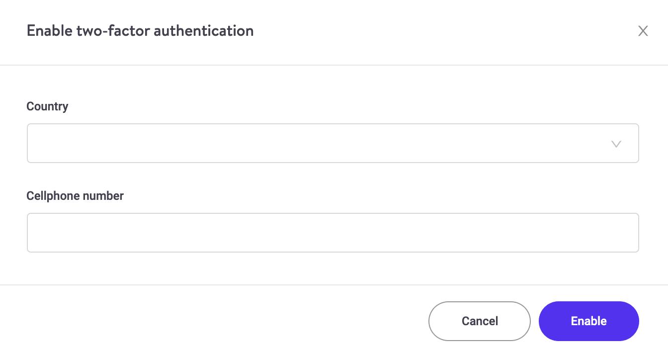 Configurar o auth de dois fatores
