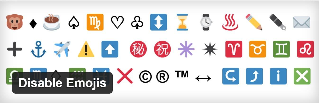 desativar emojis wordpress plugin