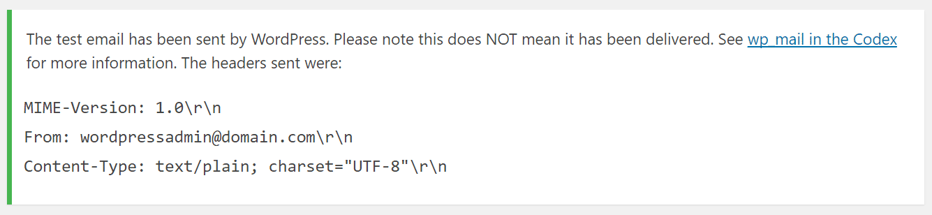 Confirmação de email de teste