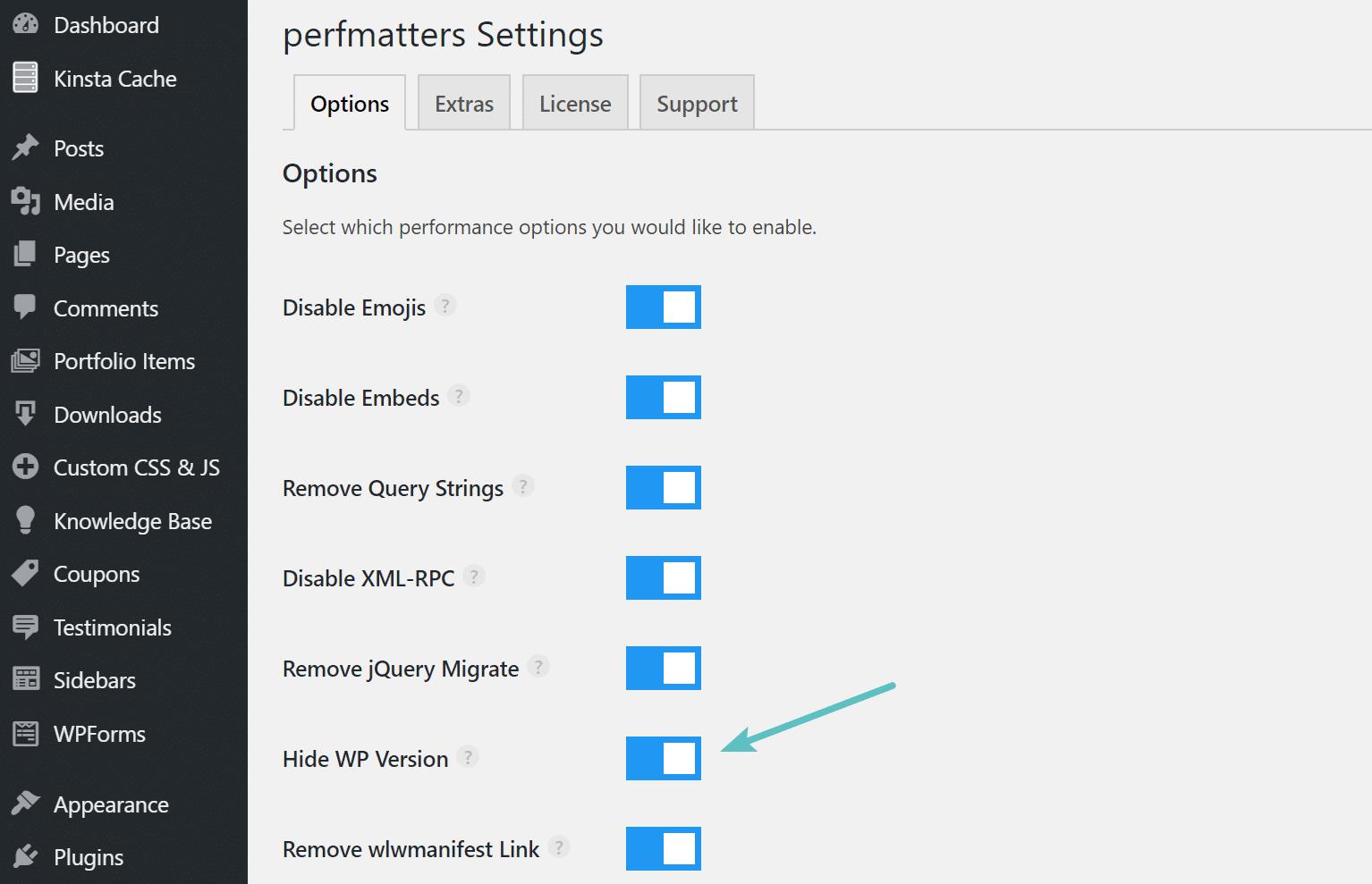Ocultar versão do WordPress com perfurters