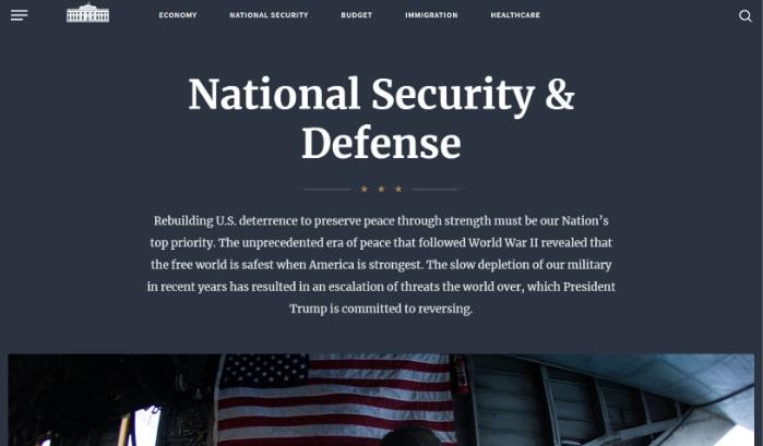 A Casa Branca executa o WordPress