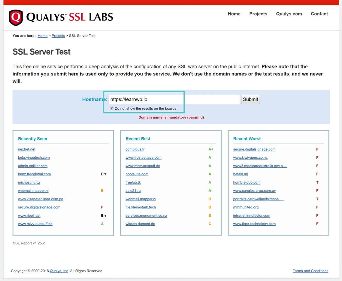 SSL verificar domínio