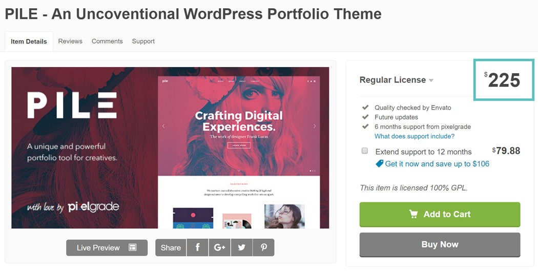 tema caro do WordPress