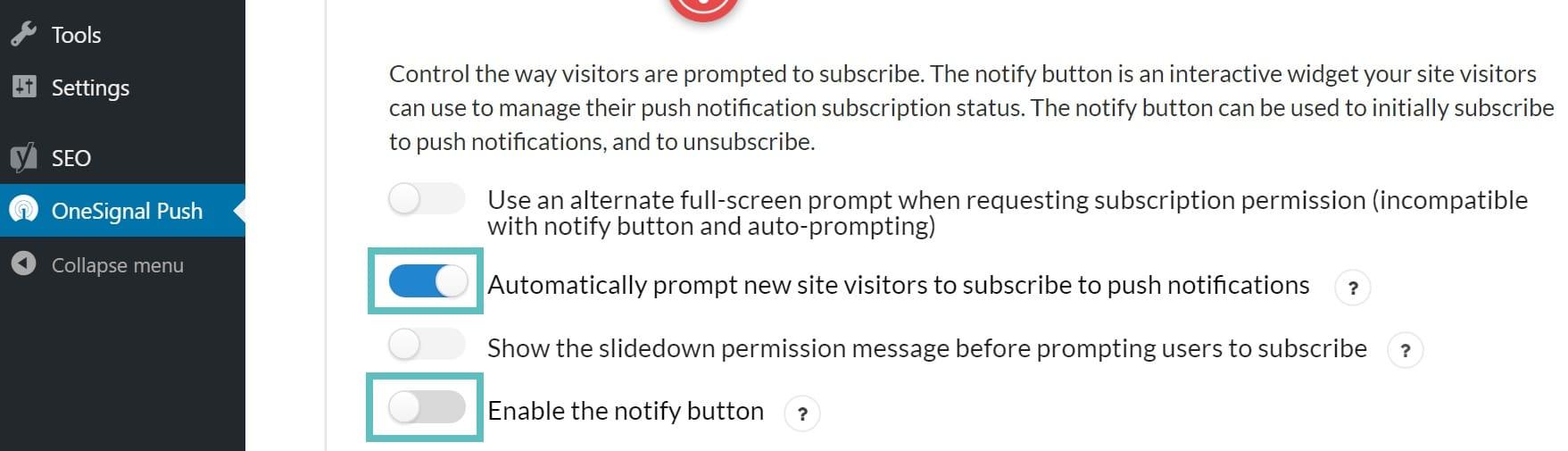 Avisar os usuários automaticamente