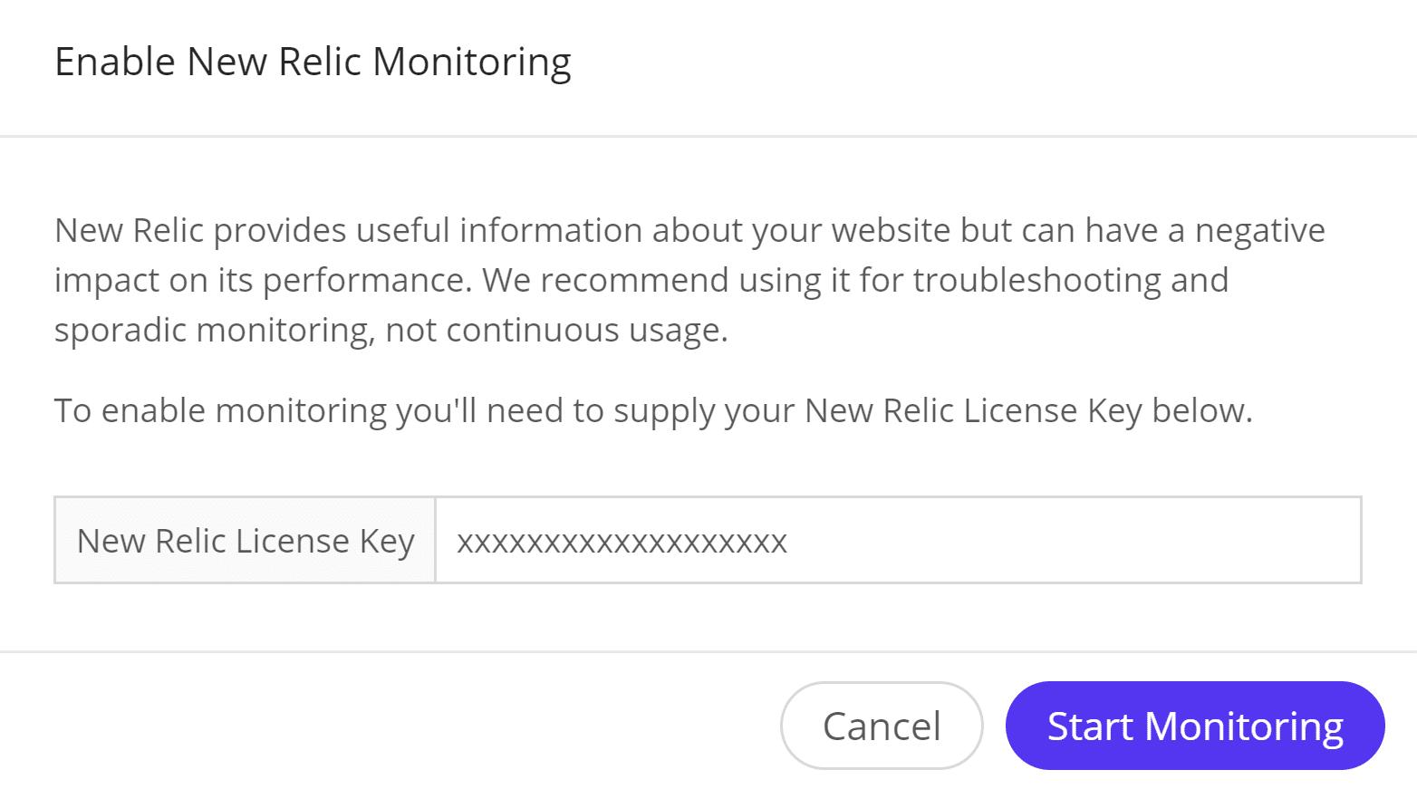 Iniciar monitorização com o New Relic