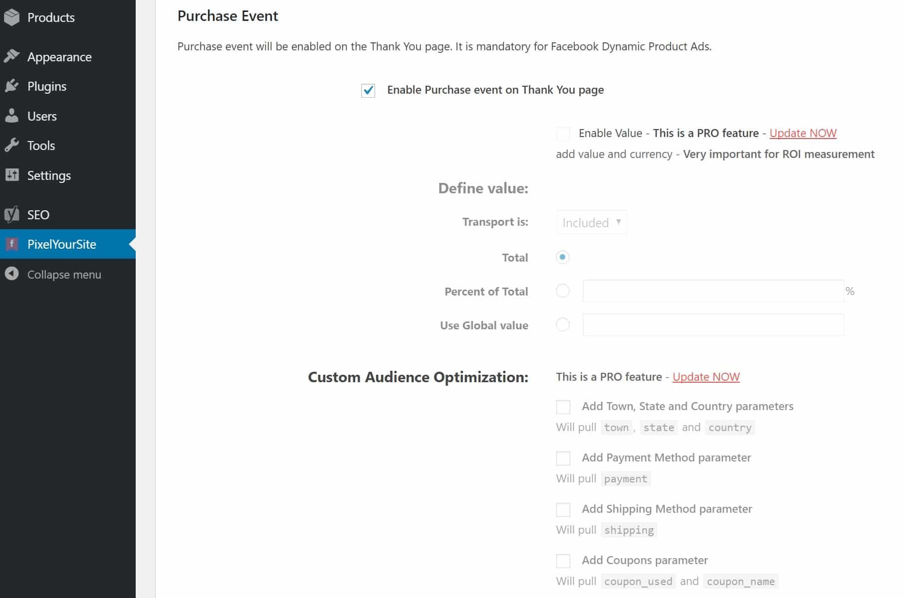 Evento de compra WooCommerce na página de agradecimento