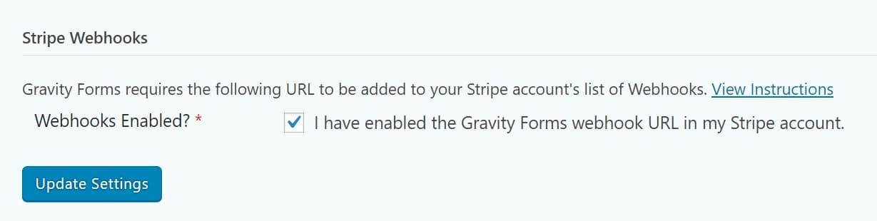 Actualização dos ganchos de Stripes