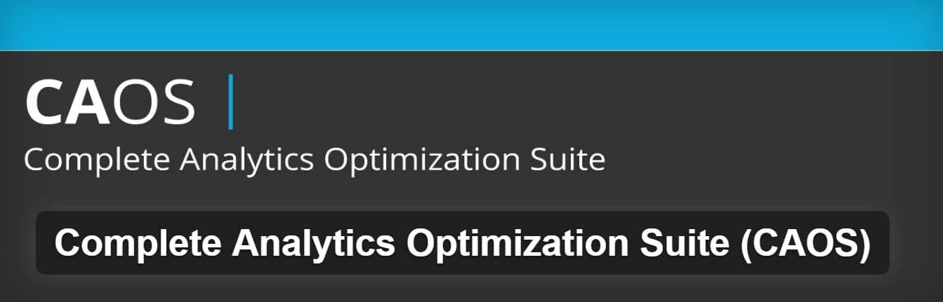 Plugin Complete Analytics Optimization Suite