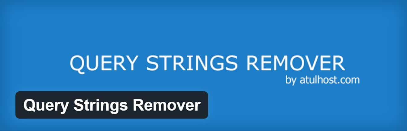 Plugin Query Strings Remover