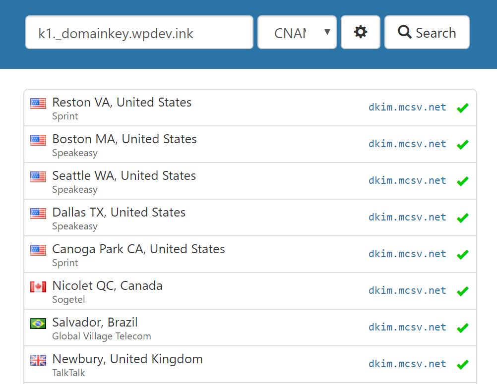 Verificar registo DKIM