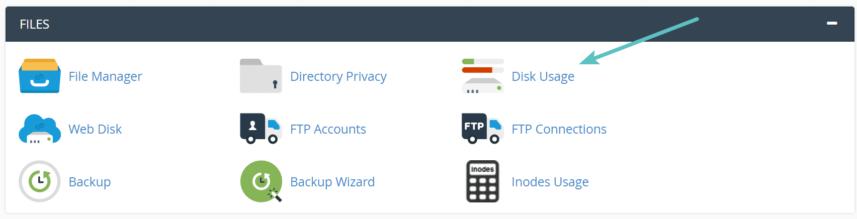 Uso do disco no cPanel