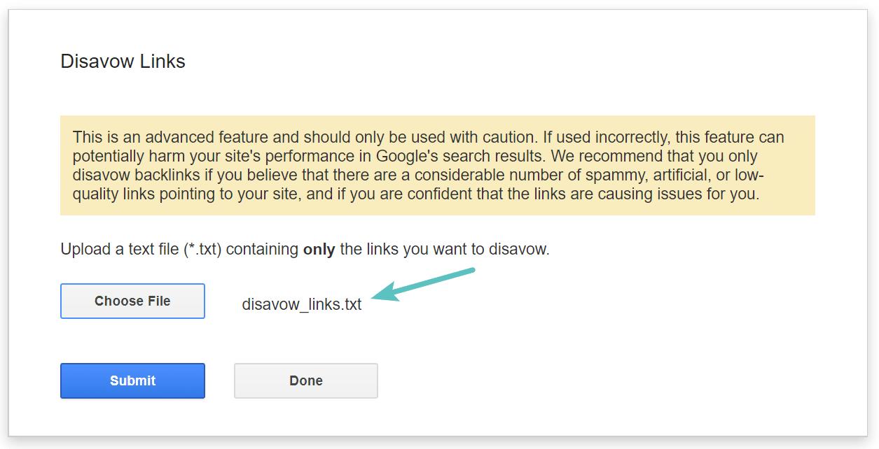 Submeter ficheiro de rejeição