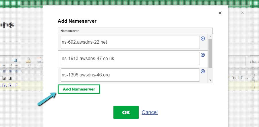 Onde introduzir os servidores de nomes Kinsta