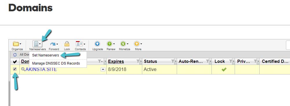 Como gerenciar servidores de nomes na visualização de lista avançada
