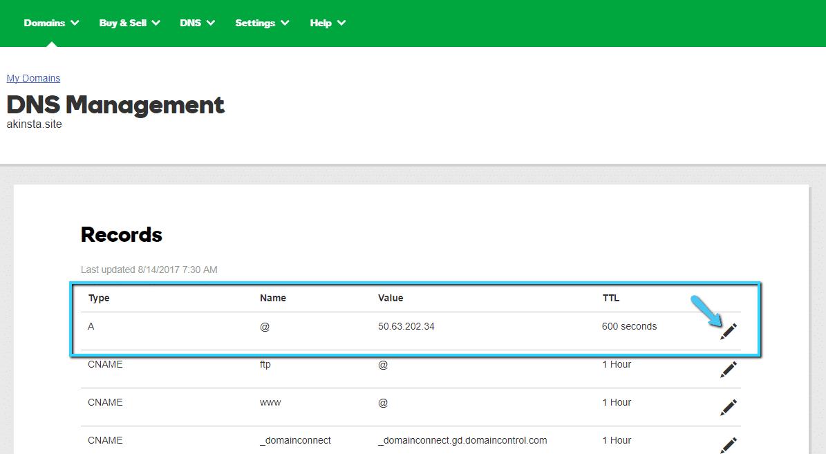 Como editar o Registro A