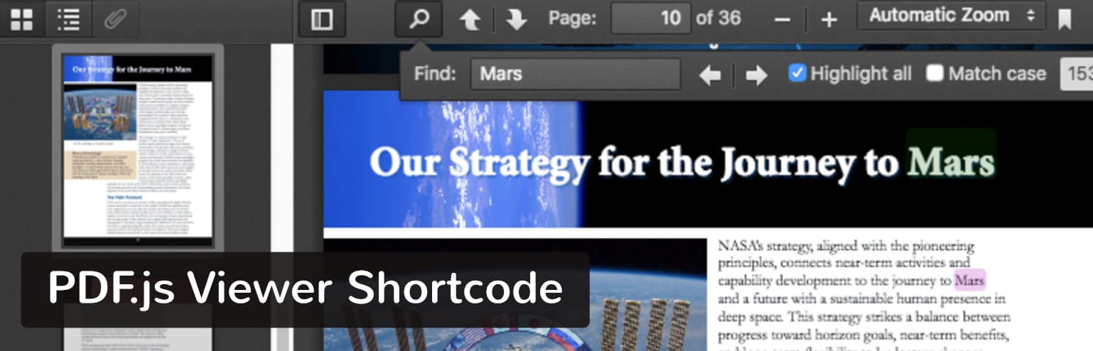 PDF.js Viewer Shortcode plugin