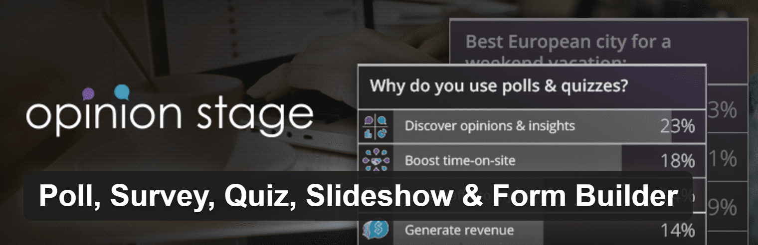 Poll, Survey, Quiz, Slideshow and Form Builder