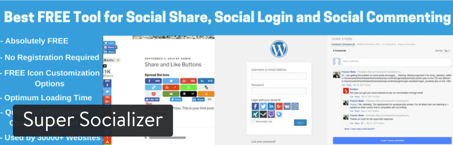 Plugin WordPress Super Socializer
