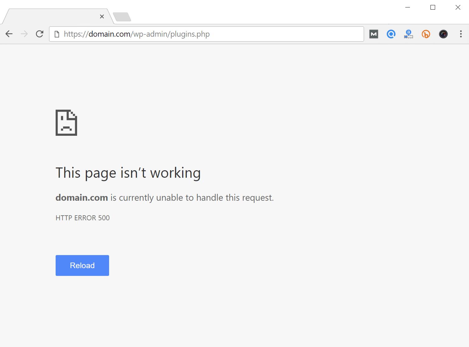 Erro interno do servidor 500 no WordPress