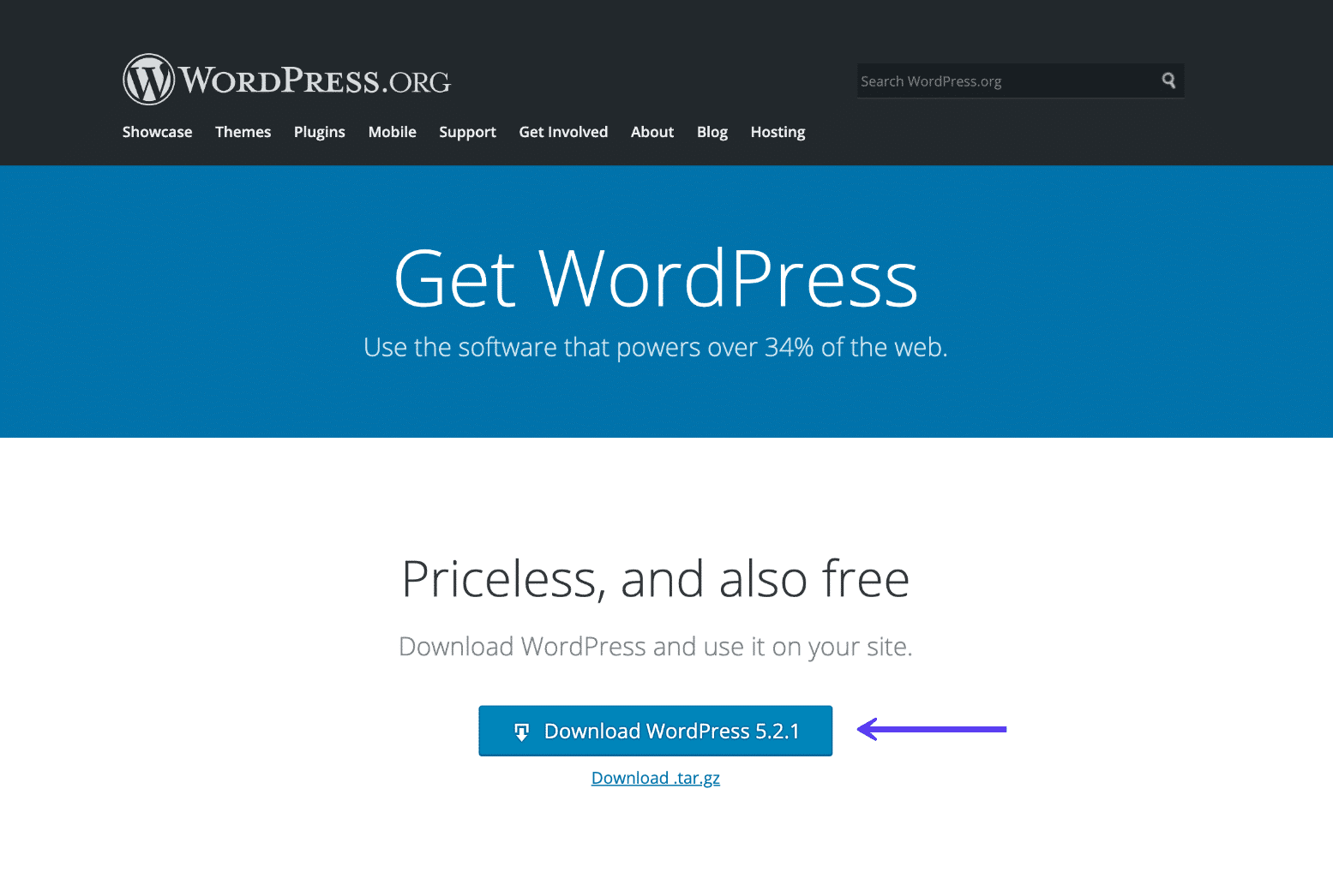Baixar a versão mais recente do WordPress