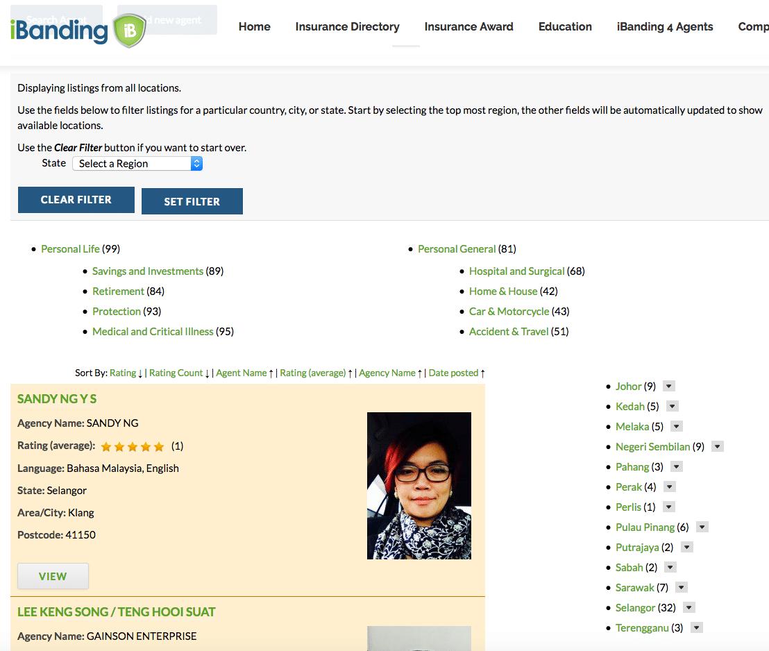 Exemplo de um diretório de negócios WordPress