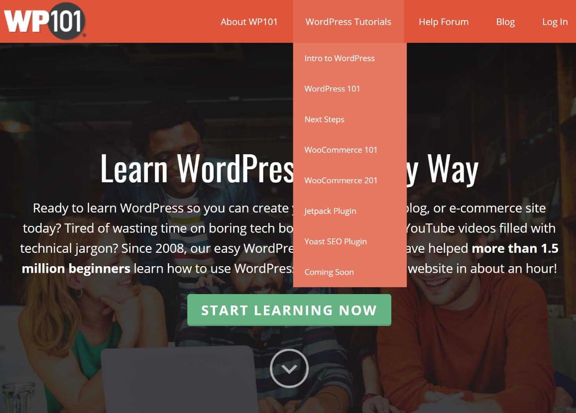 Aprenda tutoriais do WordPress
