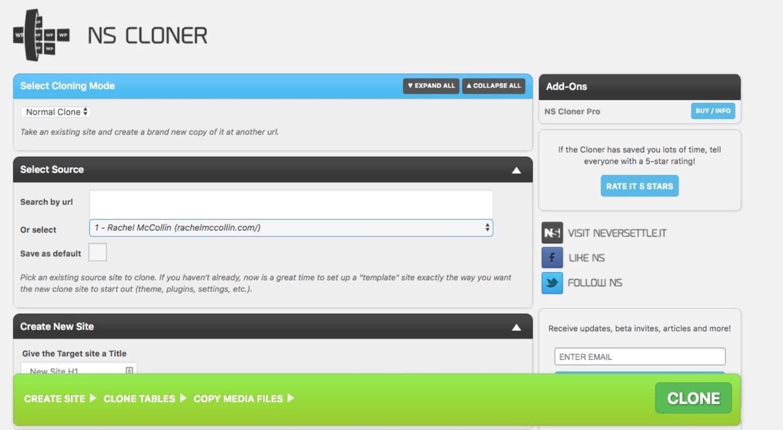 NS Clone WordPress plugin