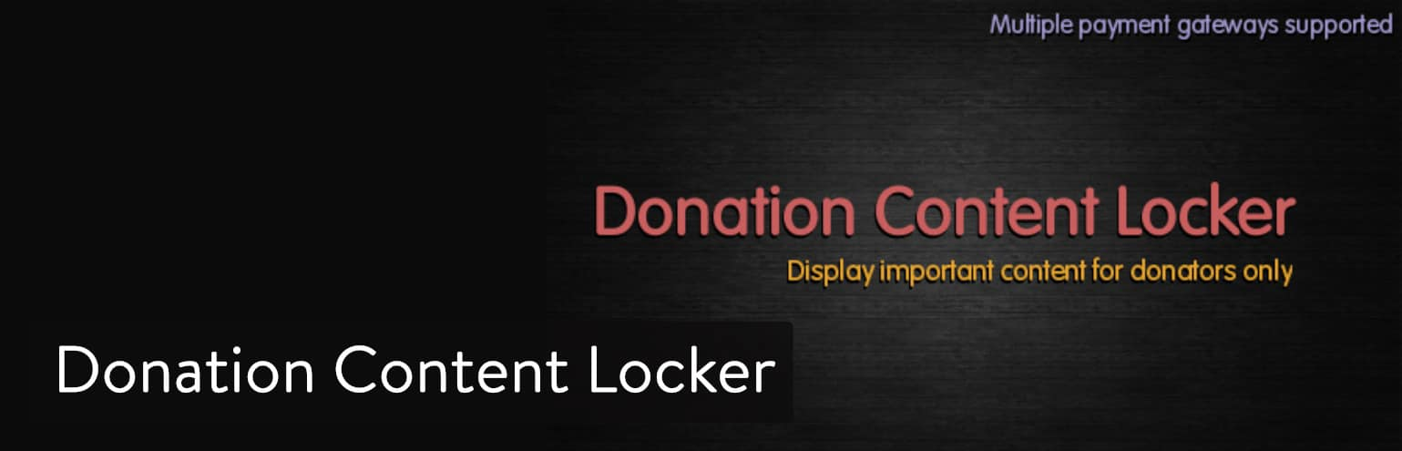 Donation Content Locker WordPress plugin