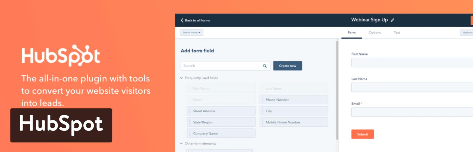 HubSpot All-In-One Marketing WordPress plugin