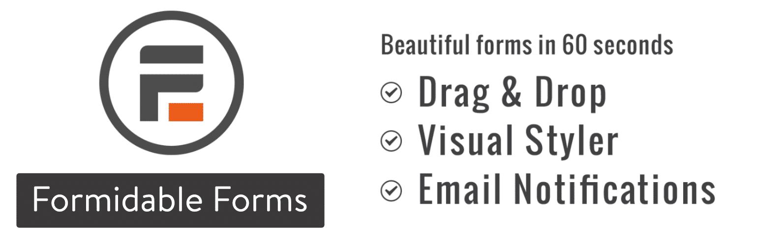 Plugin de formulário de contato Formidable Forms