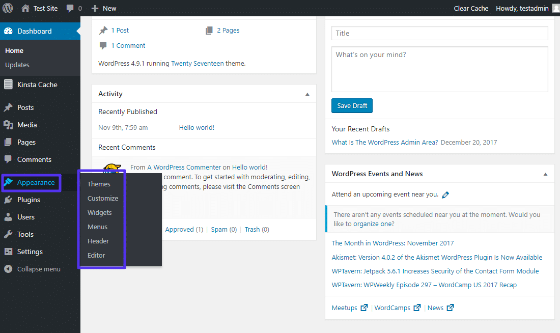 Como editar temas do WordPress