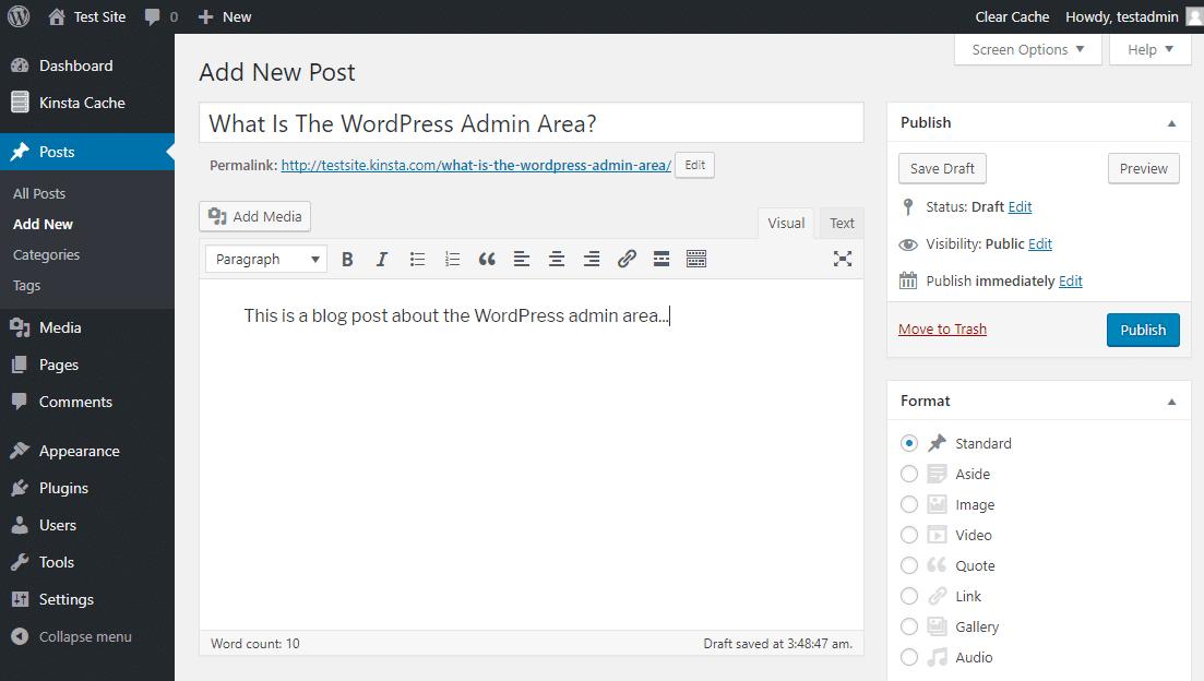 O editor WordPress
