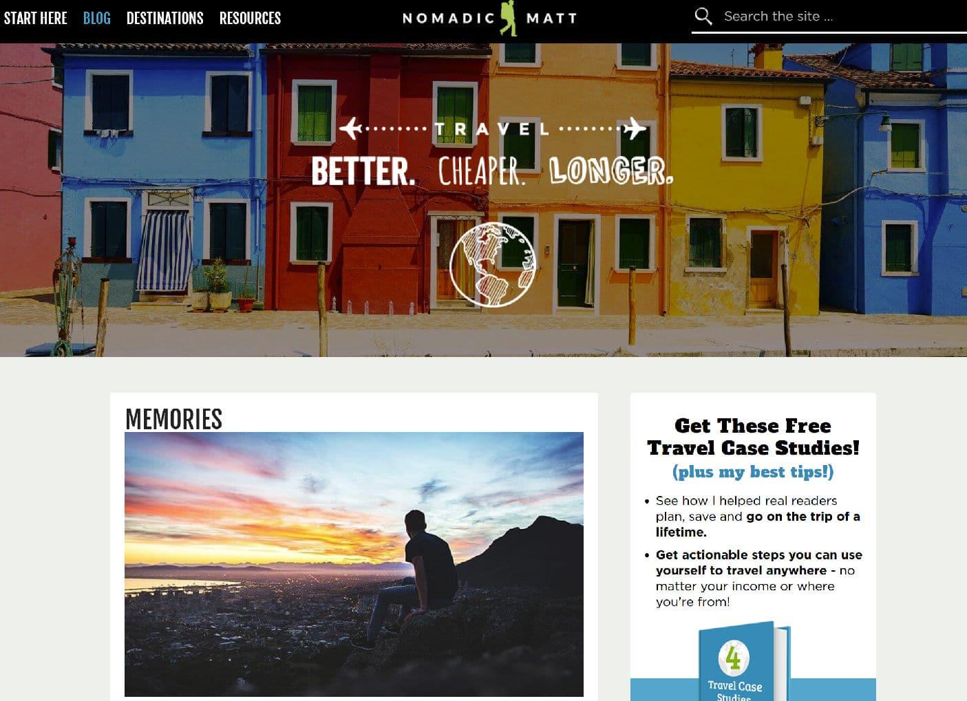 Blog de viagens Nomadic Matt