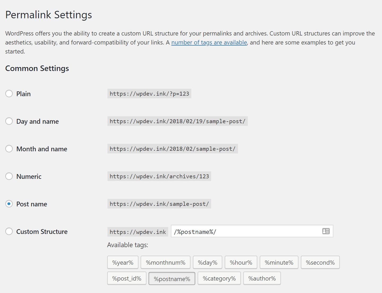 Ligações permanentes WordPress